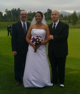 Me with newlyweds Dr. and Mr. Davenport