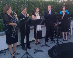 Los Angeles wedding officiant enjoys Jennifer Barnes' chorus