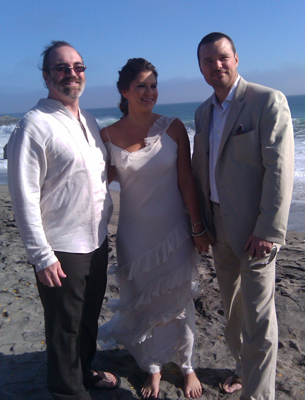 Los Angeles wedding officiant in Malibu