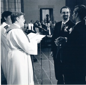 Los Angeles wedding officiant gives his vows to his husband