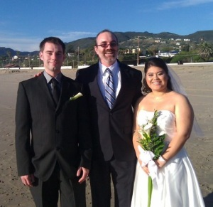 Los Angeles Wedding Officiant at Zuma Beach