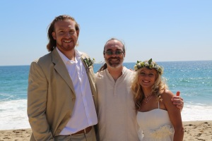 Bertrand and Joanna at Point Dume with LA Wedding Officiant and Celebrant